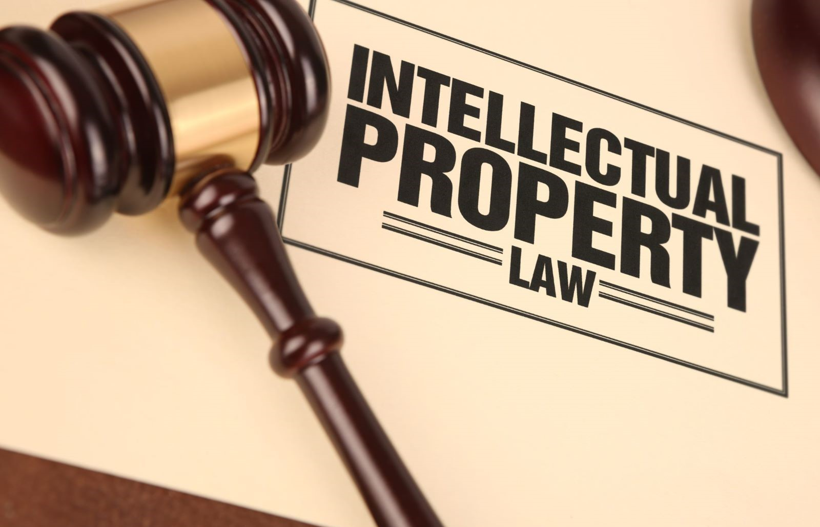 Intellectual Property Law Folder with Gavel