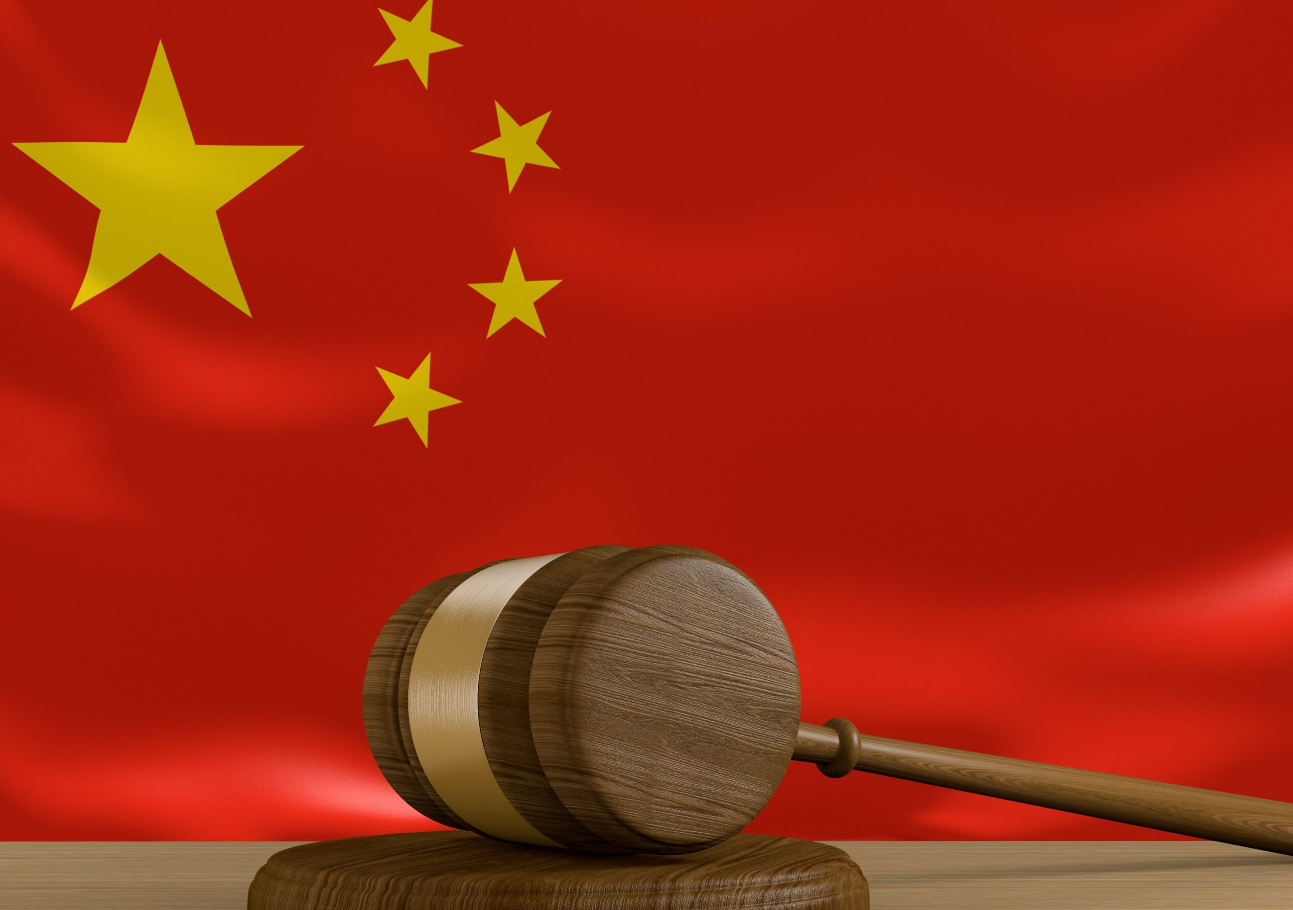 chinese-law-gavel-and-flag