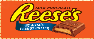REESE'S MILK CHOCOLATE AND FILLED WITH REESE'S PEANUT BUTTER