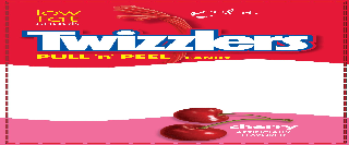 TWIZZLERS PULL 'N' PEEL CANDY CHERRY PEEL IT LOW FAT SNACK AND ARTIFICIALLY FLAVORED