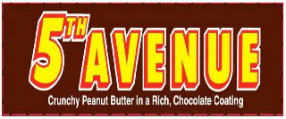 5TH AVENUE CRUNCHY PEANUT BUTTER IN A RICH, CHOCOLATE COATING