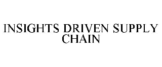 INSIGHTS DRIVEN SUPPLY CHAIN