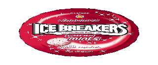 ICE BREAKERS CINNAMON NATURAL & ARTIFICIAL FLAVOR TO SHARE ULTIMATE MOUTH FRESHENING SUGAR FREE MINTS WITH FLAVOR CRYSTALS, NOT TO SHARE