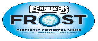 ICE BREAKERS FROST PERFECTLY POWERFUL MINTS SUGAR-FREE PEPPERMINT NATURAL & ARTIFICIAL FLAVOR