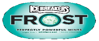 ICE BREAKERS FROST PERFECTLY POWERFUL MINTS SUGAR-FREE  · WINTERCOOL ·  NATURAL & ARTIFICIAL FLAVOR