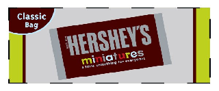 HERSHEY'S MINIATURES A LITTLE SOMETHING FOR EVERYONE! CLASSIC BAG SINCE 1894